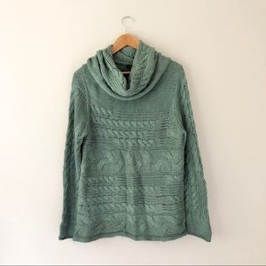 Banana Republic Teal Knit Cowl Sweater